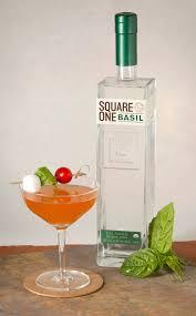 martini basil square one organic vodka