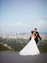 wedding backdrop brisbane the city as your backdrop with a mt coot tha wedding we