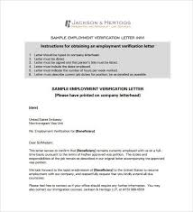 employment verification letter template for visa employment