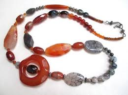 orange stone necklace images Ali herrmann handmade jewelry stone necklaces and bracelets jpg