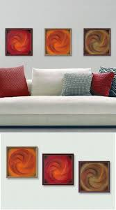 Shopping For Home Decor Online Wall Decor For Home Or Office 3d Abstract String Art Orange Red