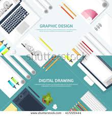 web design software tutorial graphic web design illustrationflat styledesigner workplace stock
