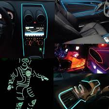 Neon Lights In Cars Interior Aliexpress Com Buy Autoec 5m Flexible Neon Light Glow El Wire