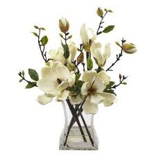 Artificial Lilies In Vase Artificial Flowers Artificial Plants U0026 Flowers The Home Depot
