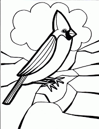 coloring bird coloring pages for preschoolers