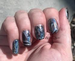 Water Challenge Tutorial Hepicksmypolish October Challenge Holographic Water Marble Nail