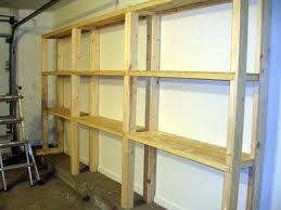 Wooden Shelves Build by How To Build A Wooden Garage Storage Wall Schutte Lumber