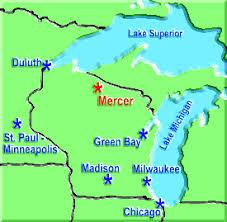 mercer map wisconsin