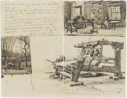 vincent van gogh letter sketches of gardener with a wheelbarrow