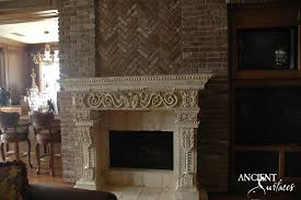 antique fireplaces by ancient surfaces this amazing fireplace was