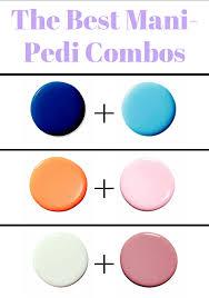 color combo mani pedi color combos