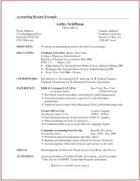 resume objective exles general accountant roles allocation accounting resume summary