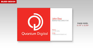 Business Card With Bleed Learn About Printing Your Next Business Card Project With