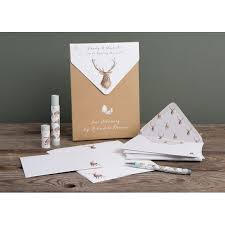 letter writing paper sets l001 wild at heart letter writing set by wrendale designs wild at heart stag letter writing set
