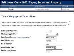 va arm loan du aid entering the data for a va loan