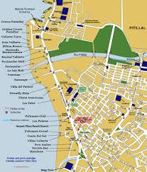 Zone Map Hotel Zone Map From Puerto Vallarta Vallartainfo