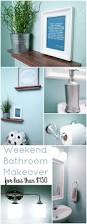 weekend bathroom makeover for less than 150 the home depot