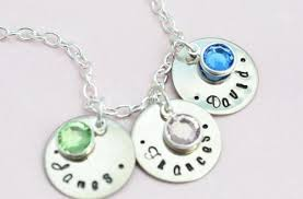 grandmother necklaces grandmother necklace with birthstones pendant family