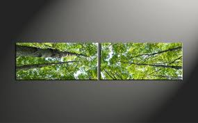 Prints Home Decor 2 Piece Green Scenery Leafy Trees Canvas Photo Prints
