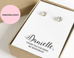 personalized jewelry gift boxes thank you for being my bridesmaid jewelry boxes gift boxes