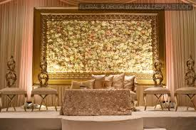 wedding backdrop reception muslim indian wedding reception decor with a grand floral backdrop