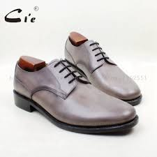 light grey dress shoes cie free shipping bespoke custom handmade round plain toe light grey
