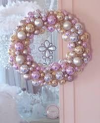 pink silver gold shiny ornaments tree bottle brush