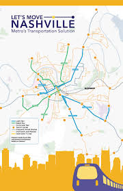 Map Of Nashville Tn Let U0027s Move Nashville Map And Handout Page 1 Transit Alliance Of