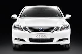 white lexus crash lexus gs 450h hybrid freshened up with styling tweaks and upgraded