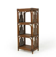 Small Open Bookcase Small Wicker Etagere By Palm Springs Rattan Wolf And Gardiner