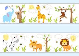 safari jungle animal decal wallpaper border boy wall art stickers