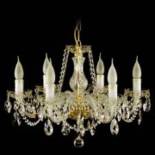 Chandelie Crystal Chandelier Nisa 5 Bulbs