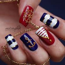 best 25 nautical nail designs ideas on pinterest sailor nails