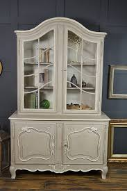 french glass display cabinet with cupboard by the treasure trove