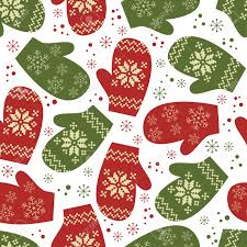 seamless pattern mittens with winter traditional