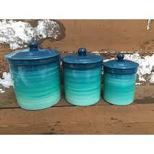 green kitchen canisters sets teal kitchen canisters 35 images teal hibiscus ceramic vase