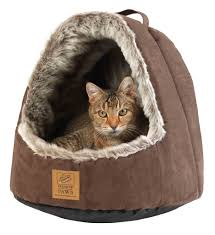 Hooded Dog Bed House Of Paws Hooded Arctic Fox Cat Bed Pinx Pets