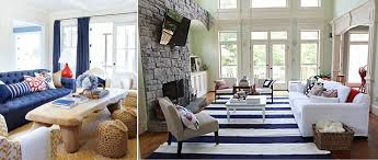 Th Of July Home Decorating Ideas - Red and blue living room decor