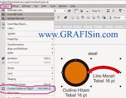 membuat gambar transparan di corel draw x7 cara convert outline ke object di coreldraw x7 grafisin tutorial