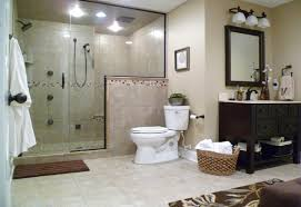 traditional bathroom with blue brown bath rug decor ideas and oval