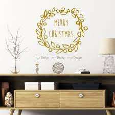 room decor wall decals vinyldesign com au vinyldesign christmas wreath wall decal