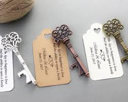 wedding bottle openers skeleton key bottle openers poem thank you tags wedding