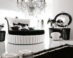 black and white bed frame black white wave pattern wallpaper