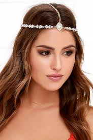gold headpiece stunning gold headpiece rhinestone headpiece 17 00