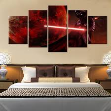 star wars living room 5 pcs oil cuadros wall pictures for living room unframed star wars