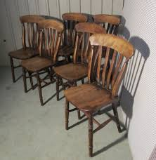 set 6 victorian slat back farmhouse kitchen chairs antiques atlas