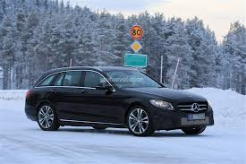 mercedes c class station wagon 2018 mercedes c class facelift spied reveals more of its