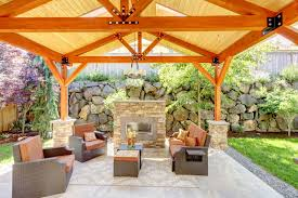 Patio Room Designs 31 Patio Fireplaces Creating Outdoor Living Room Spaces