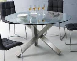 Glass Top Dining Table With Metal Base Foter - Glass for kitchen table