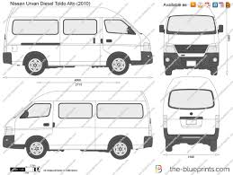 nissan urvan 2014 the blueprints com vector drawing nissan urvan diesel toldo alto